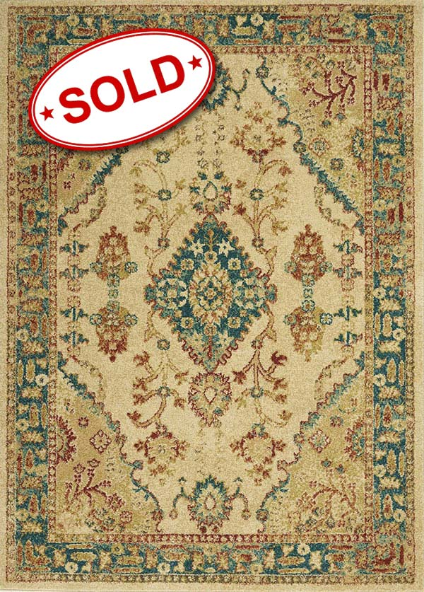 TRADITIONAL ANTIQUE TRQ04 IVORY TEAL